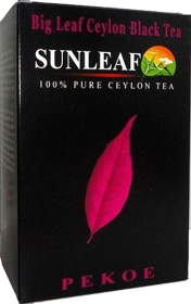 SUNLEAF BIG LEAF CEYLON BLACK TEA 100% PURE CEYLON TEA PEKOE 100 гр