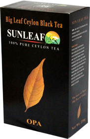 SUNLEAF BIG LEAF CEYLON BLACK TEA 100% PURE CEYLON TEA OPA 250 гр