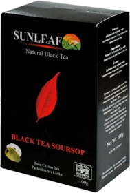 SUNLEAF NATURAL BLACK TEA BLACK TEA SOURSOP 100 гр