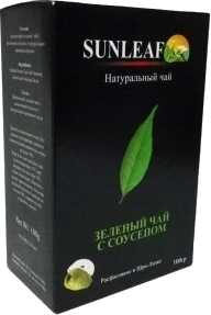 SUNLEAF NATURAL GREEN TEA SOURSOP 250 гр