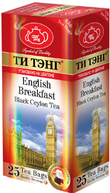 ТИ ТЭНГ ENGLISH BREAKFAST BLACK CEYLON TEA 25 ПАКЕТИКОВ