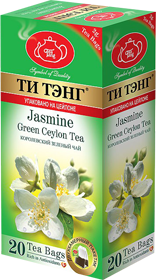 ТИ ТЭНГ JASMINE GREEN CEYLON TEA 20 ПАКЕТИКОВ